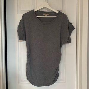 Short Sleeve Grey Sweater